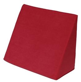 beties Big Comfy Keilkissen Bezug Move ca. 62x49x30 cm Vintage Look mit einzigartiger Used Optik Farbe Rot (wählen Sie Ihr Keilkissen extra dazu) - 1