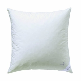 Billerbeck 5454250001 Daunenkissen E07 Platinedition 50, 80/80 cm weiß - 1