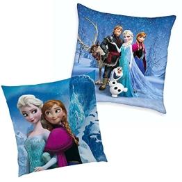 Disney Eiskönigin Frozen - Kinder Kissen Dekokissen Cristal 40x40cm - 1